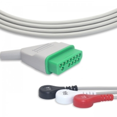 Fixed-Snap One piece ECG cables-Nihon Kohden