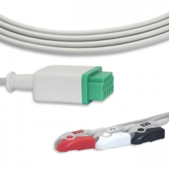 Fixed-Pinch One piece ECG cables-GE-Marquette
