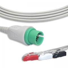 Fixed-Pinch One piece ECG cables-Spacelabs